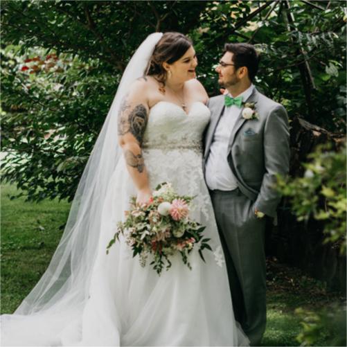 Backyard Wedding at Bride's Ambler Family Home