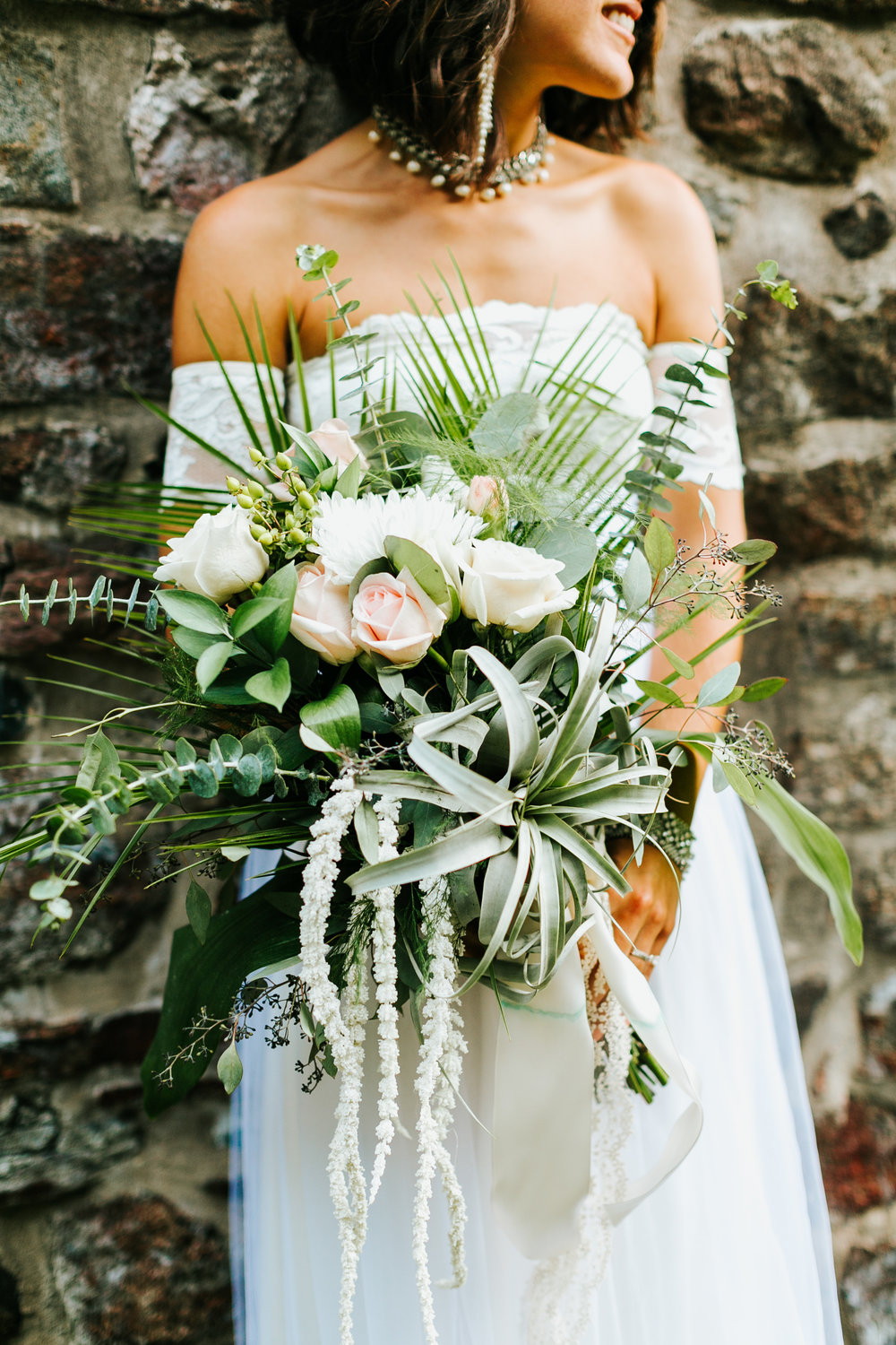Historic Yellow Springs Wedding with DIY Details and Boho Vibe with Wedding Coordination by Heart & Dash Images by Danfredo Bride Created her own succulent bouquet