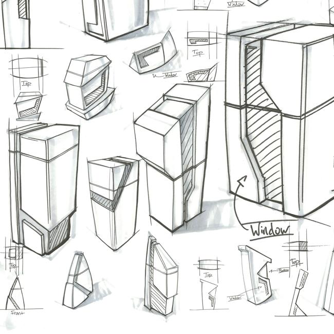 Edge Line Salt & Pepper Mills   Industrial Design,  Concept Development
