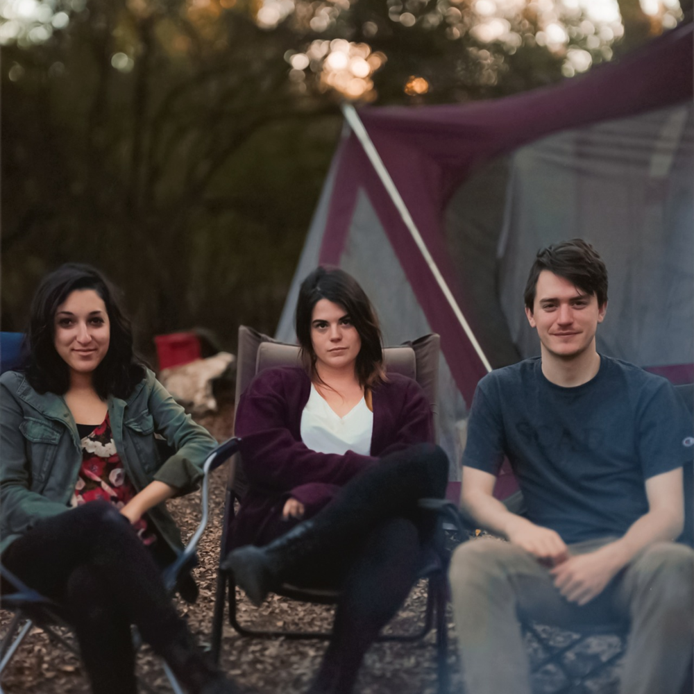Me and some of myfriends on a camping trip.Photo credit to Joanna Kulesza.