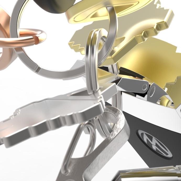 Keychain CAD Model