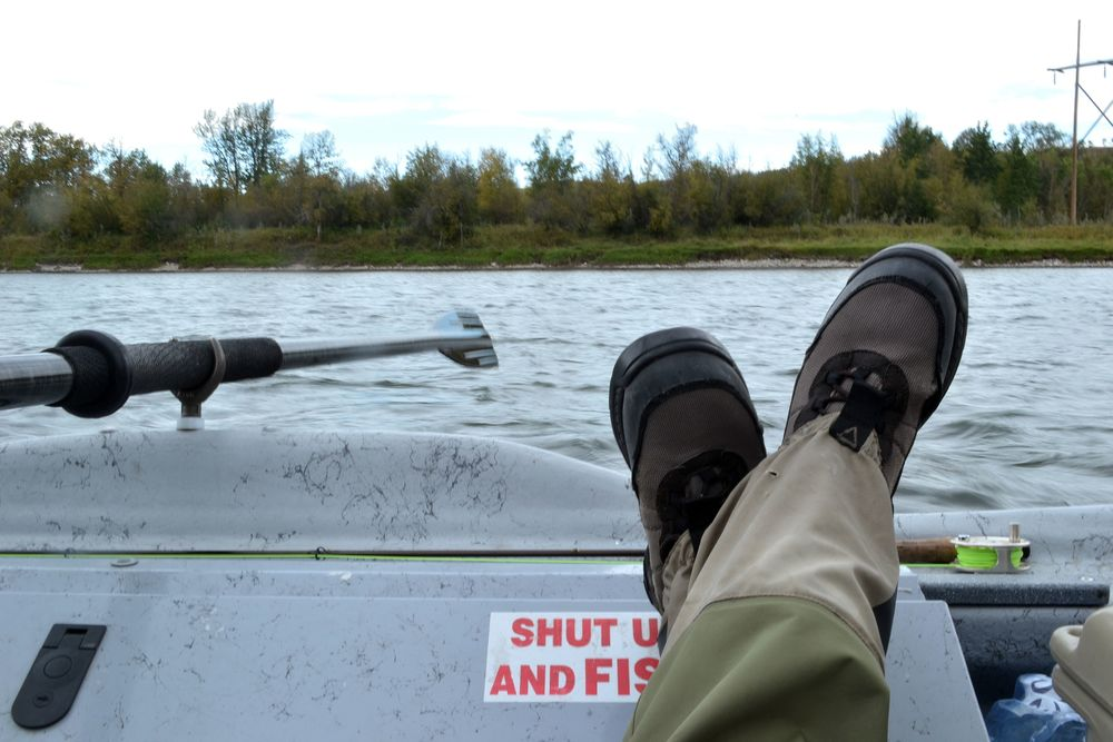 Trico hatches offer some technical fishing, and sometimes its worth just putting your feet up, and watching the fish.