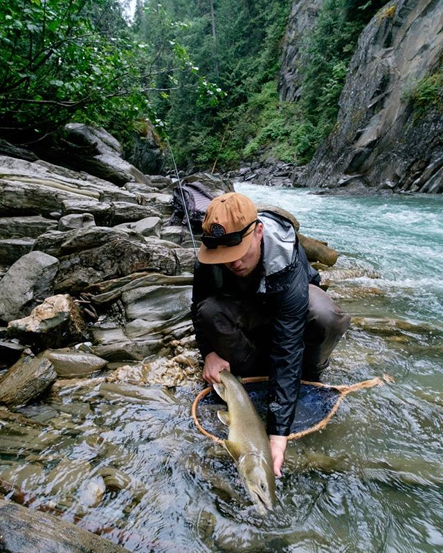 Some fish give you such a battle that no matter the size, you remember them forever. #fujifilm #flyfishing #bulltrout #bc #winstonflyrods #lamsonfleet