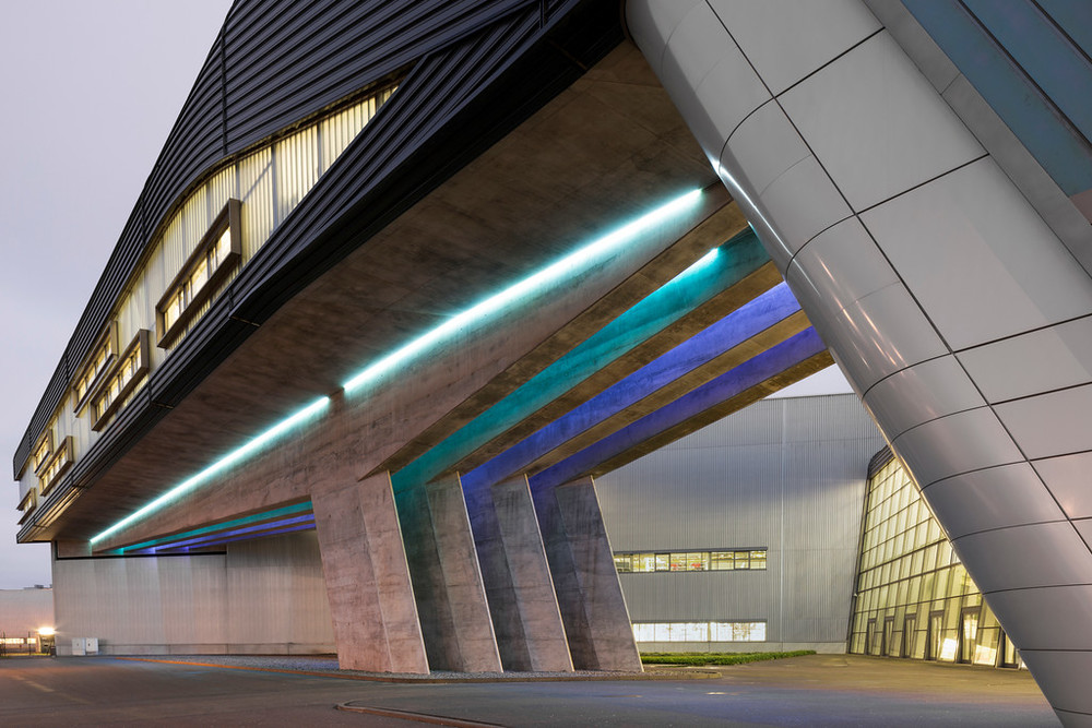 Architect Zaha Hadid Designed The Neofuturistic Bmw Central Building In Leipzig Germany