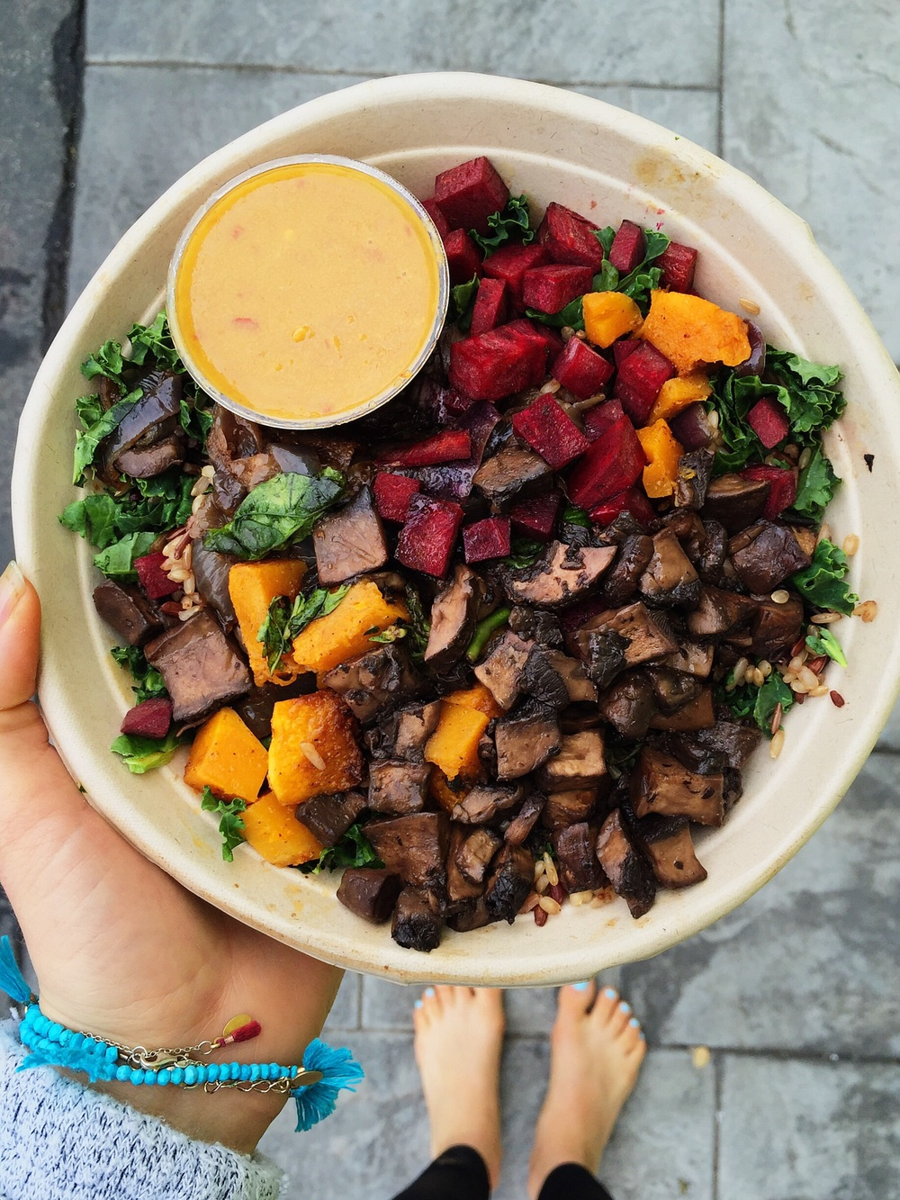 Portobello wild rice salad from Sweetgreen in Santa Monica