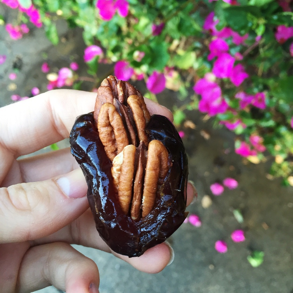 Medjool dates stuffed with pecans or cashews quickly became my favorite snack!