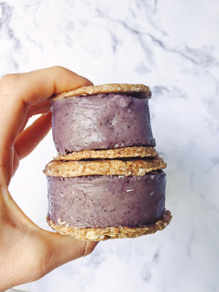 Raw vegan blueberry ice cream sandwiches lee from america forumfinder Choice Image