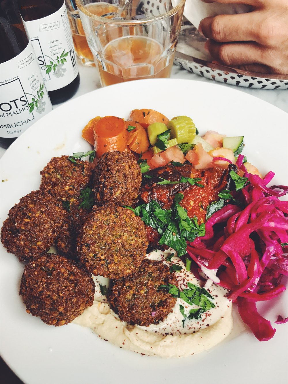 my plate of falafel at Falafelbaren