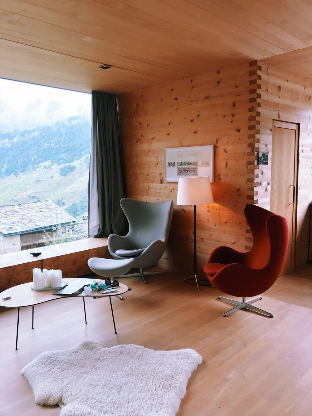 Peter Zumthor's vacation homes, aka where we stayed for 3 days.