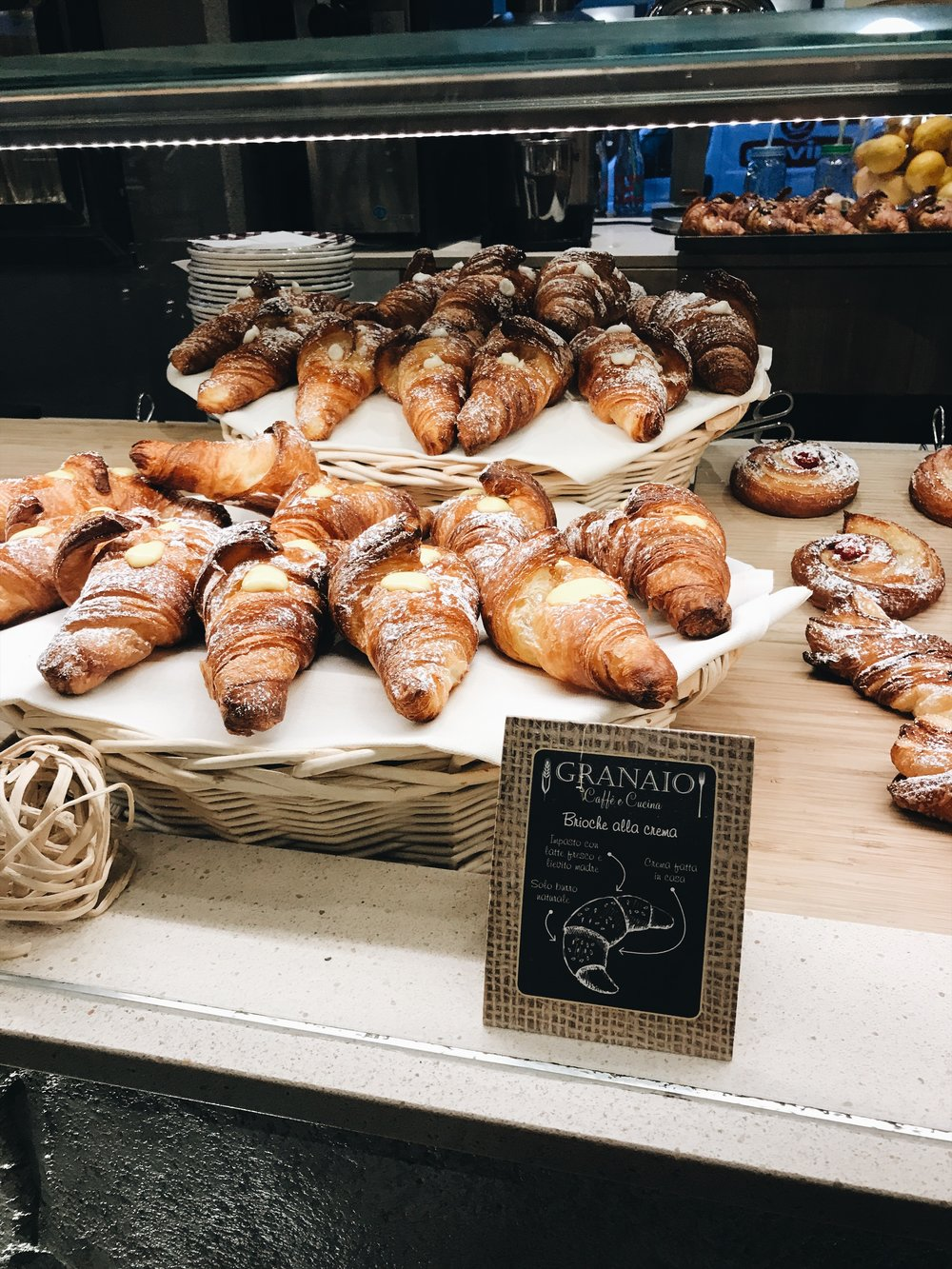the croissants at Granaio.