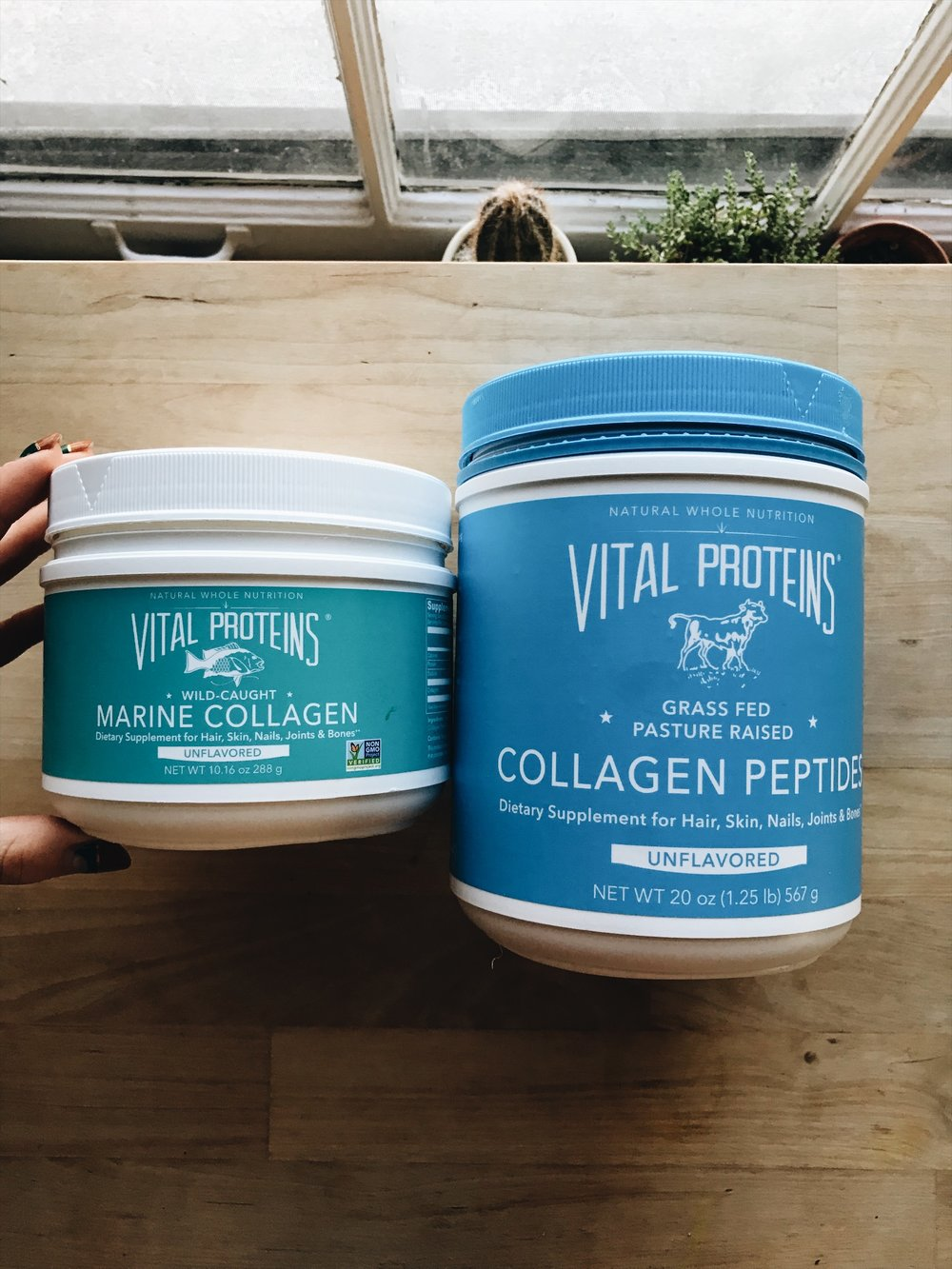 Vital Proteins offers both marine collagen and collagen peptides. Both are unflavored.