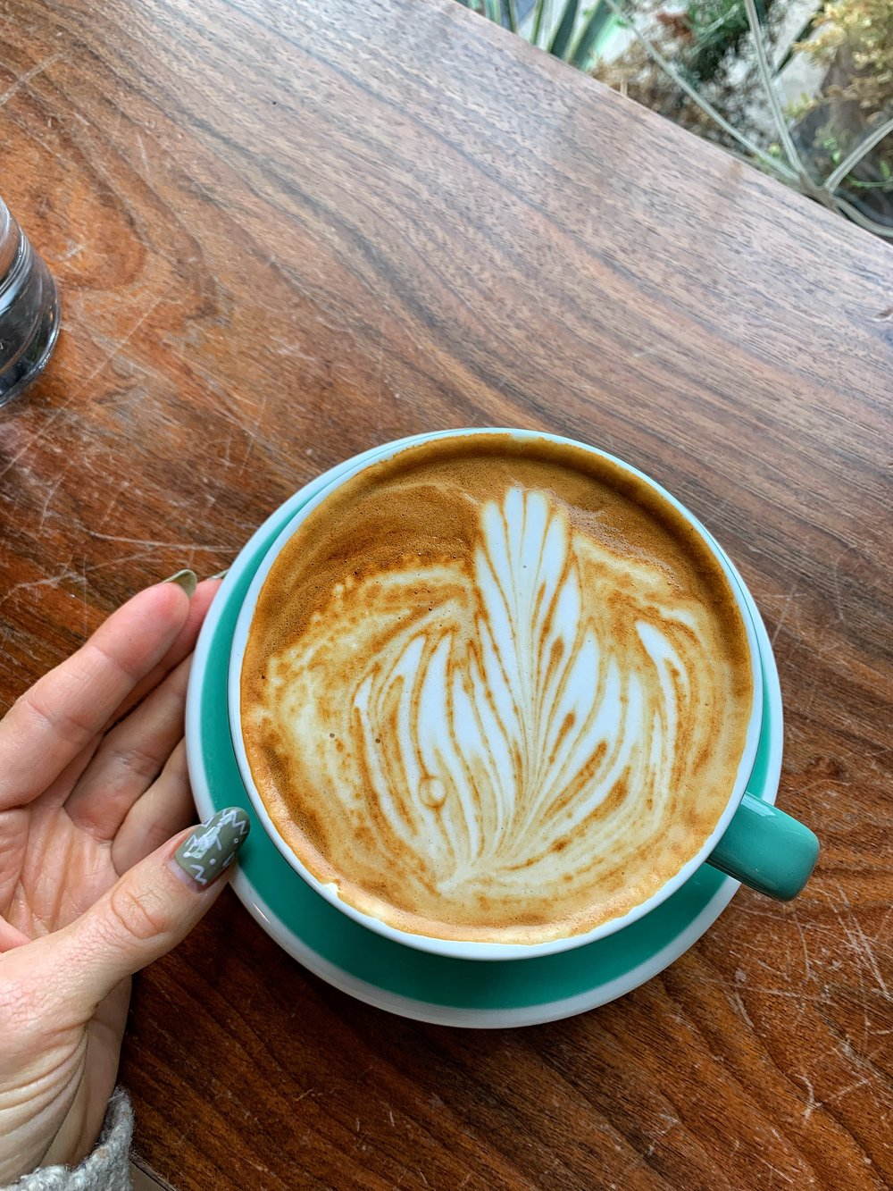 Almond milk latte from Holiday