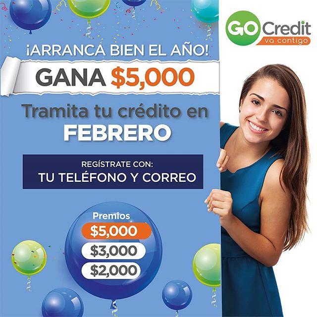 Arranca bien el año con #GoCredit  Solicita tu préstamo en Febrero y participa en nuestro Sorteo donde podrás ganar hasta $5,000 pesos😱🙌 ¡No esperes más! ... #vacontigo #gobierno #prestamos #prestamosinmediatos #dinero #préstamosrápidos #imss #issste #issstecali #isesalud #jubilados #jubiladosypensionados #pensión #dinerorápido #créditos #creditosonline