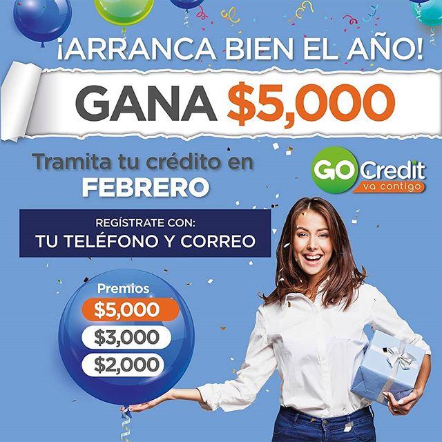 ¡Recuerda que nuestro Sorteo ya comenzó! 🙌 tramita tu crédito en Febrero y participa para ganar hasta $5,000 pesos en efectivo💵 consulta las bases en www.gocredit.mx/sorteo-gocredit  #GoCredit #vacontigo ... #prestamos #préstamosrápidos #créditos #jubiladosypensionados #jubilados #pensión #imss #issste #issstecali #isesalud #gobierno #pemex #cespt #dinerorápido #dinero #creditosonline
