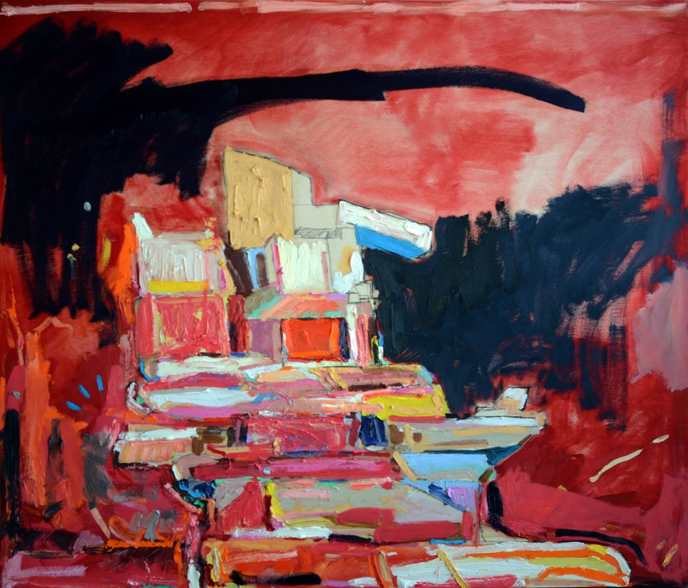Condo Bunker 1, 2011, 36 x 42 inches Private Collection
