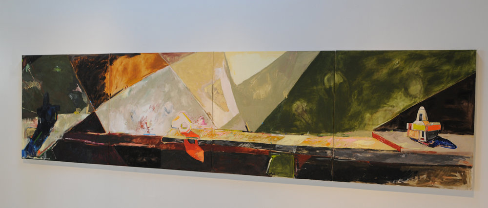 All that dark and all that cold, 2011, 48 x 192 inches