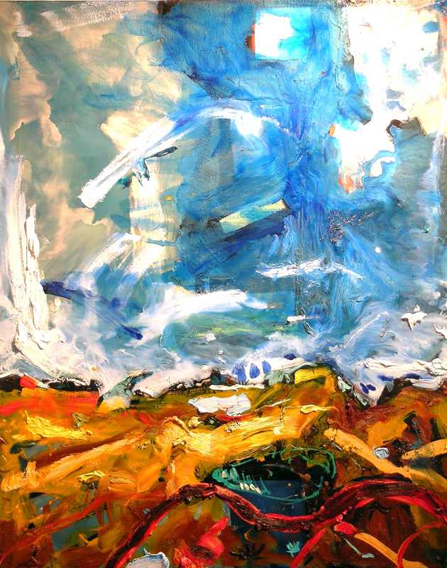 Approaching Delphi from the South, 2007, 60 x 48 inches