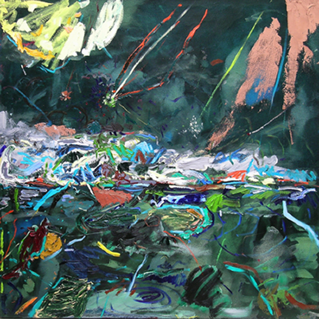 Plummet, 2006-2007, 48 x 48 inches Private Collection