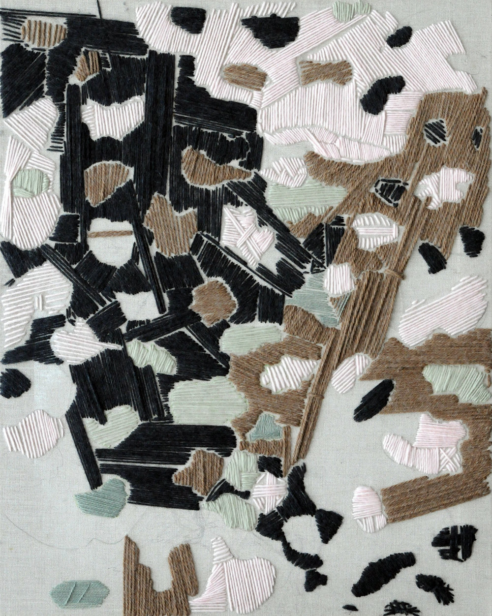 Pattern 4 2012 Wool and Linen 30 x 24 inches
