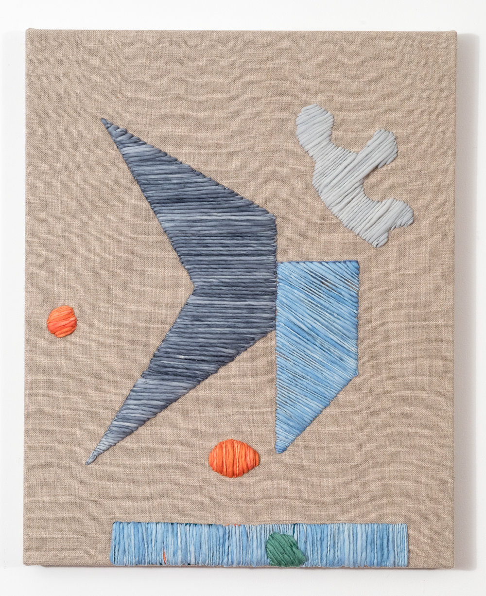 System 9 2017 Wool and Linen on Wood Stretcher 30 x 24 inches
