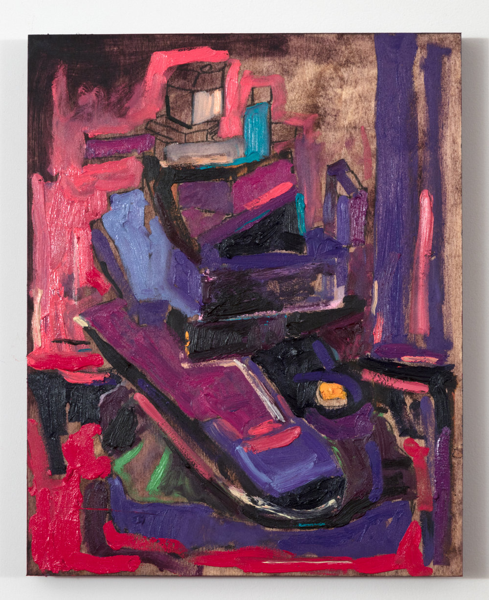 Matthew Varey Bunker 36 2018 20 by 16 inches Oil on Plywood Panel