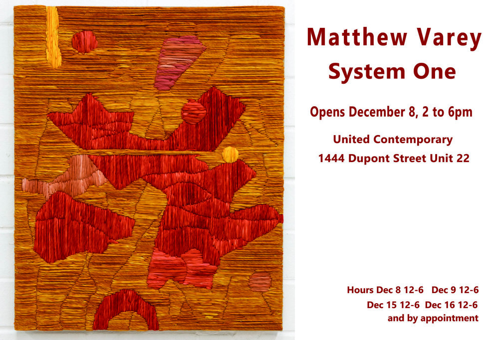 December 2018: Lost Thread, Nelson Touchstones Museum of Art, BC, Canada    December 8 -16 System One at United Contemporary, Toronto, Canada