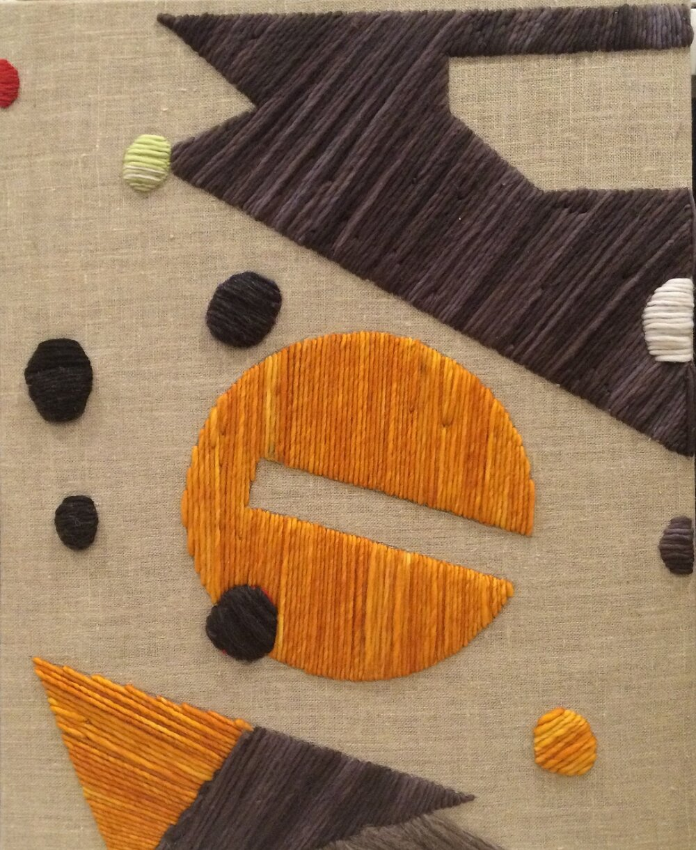 System 8 2017 Wool and Linen on Wood Stretcher 30 x 24 inches