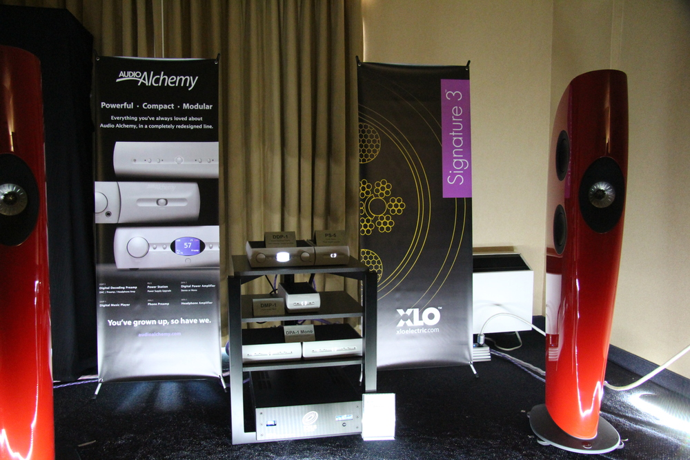 Audio Alchemy with KEF Blade Two speakers at 2015 TAVES