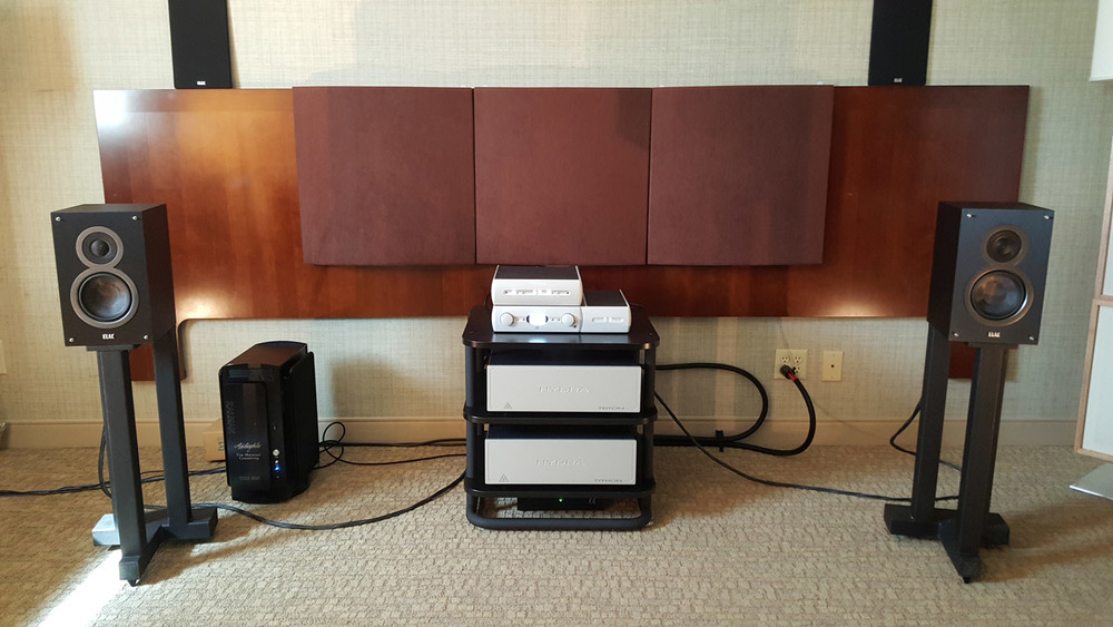 Audio Alchemy with ELAC Debut B5 speakers at 2015 California Audio Show