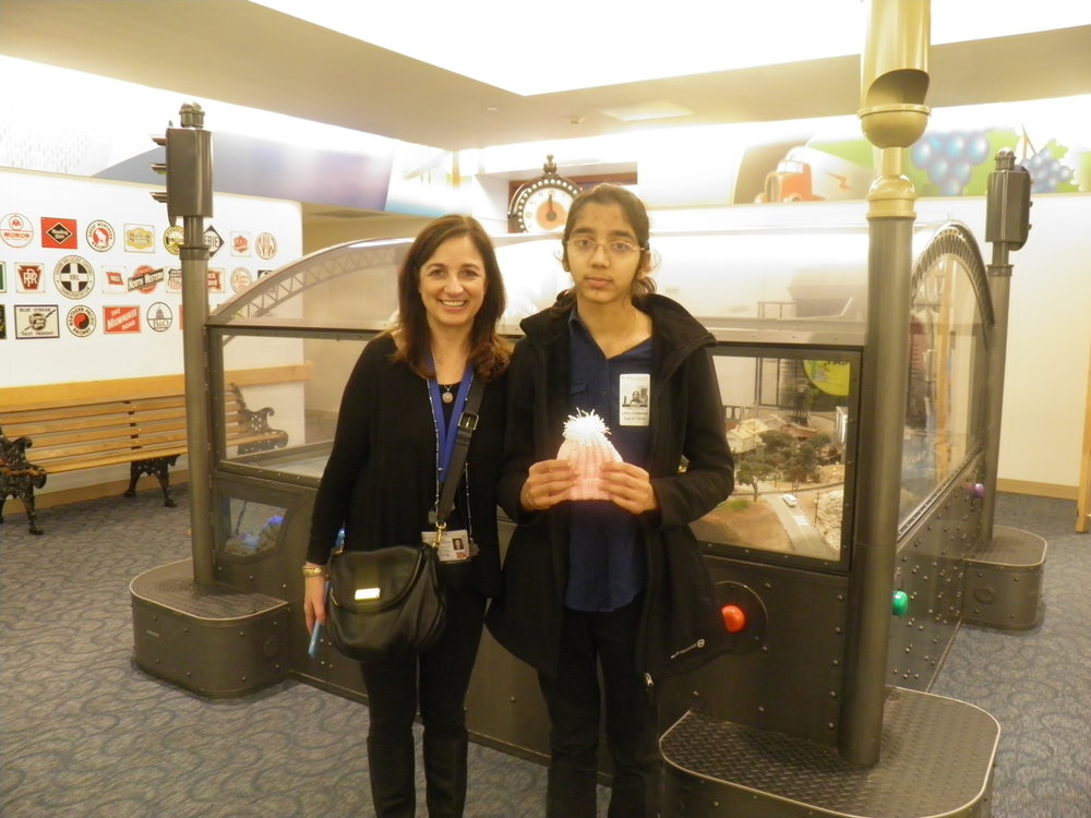 With Ms. Eve Shaw, Assistant Director, Auxiliary Relations, Lucile Packard Children's Hospital