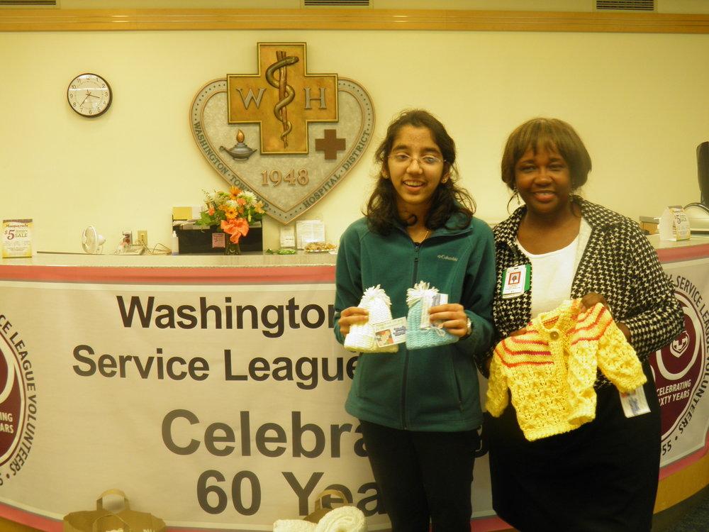 With Ms. Carmen Williams, Director of Nursing at Washington Hospital