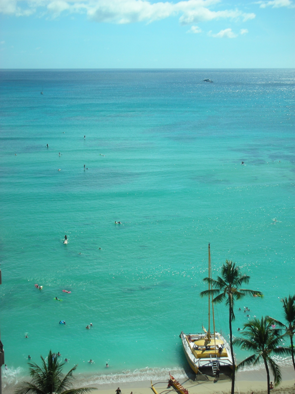 I think a dip in  Waikiki Beach  would minimise most pain