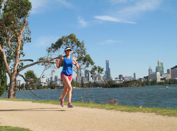 Literally flying at Albert Melbourne parkrun                                                                        Photo Credit: Albert Melbourne parkrun facebook page