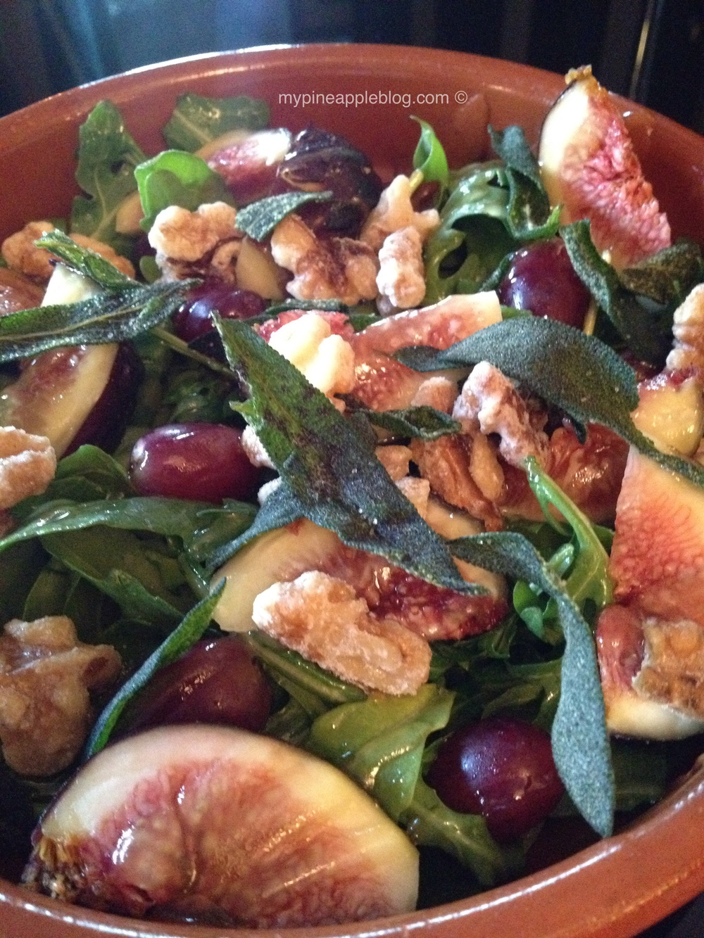 The luscious fig and walnut salad