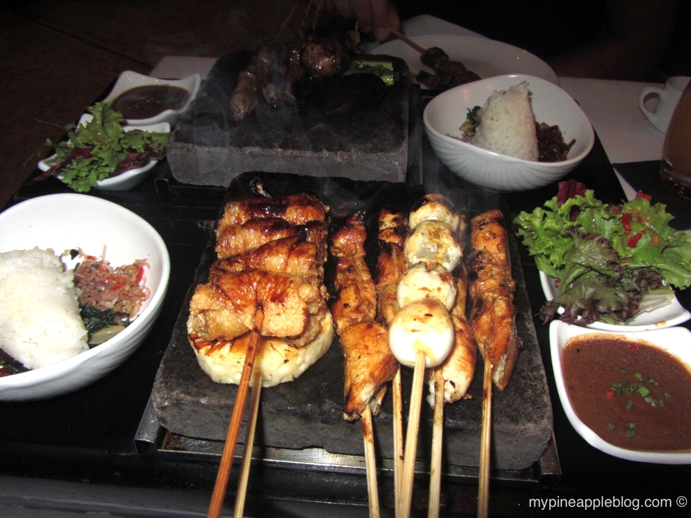 Sizzling sate selection at Chandi, Seminyak