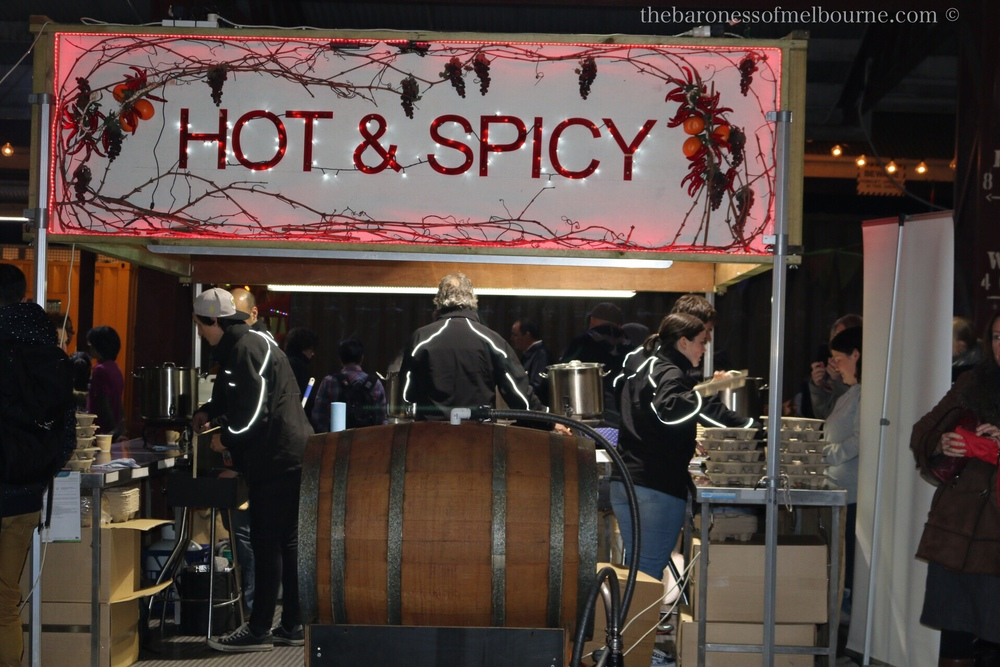 Mulled wine will warm you up for $8 a cup, andhappens to be the equivalent of 2 standard drinks