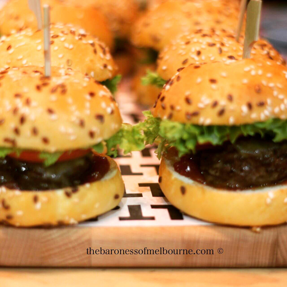 So much yum in one little package - the wagyu beef mini burgers