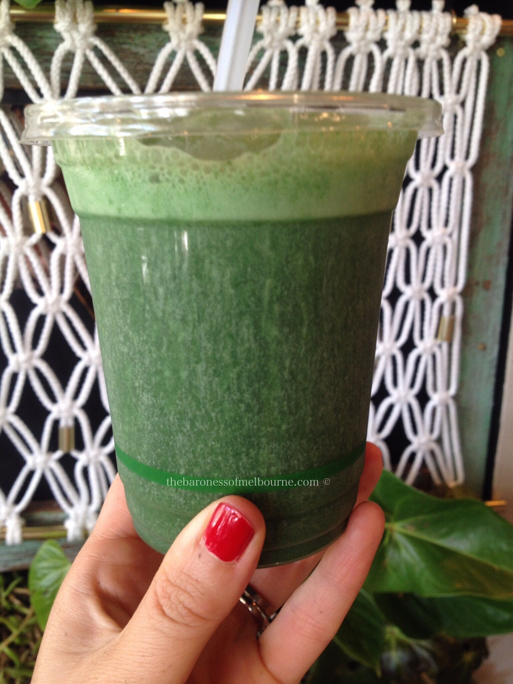 The totally incredible Hulk smoothie from The Cardamom Pod, Broadbeach