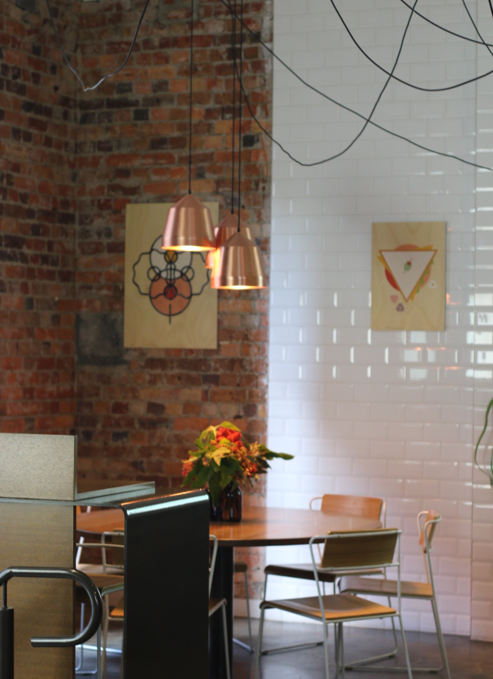 Loving the exposed brick meets white brick look