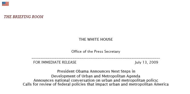 METRO - 2009-07-13 - White house press release title