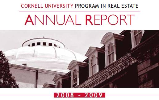 2009-09-25 - Cover of CUPRE Annual Report for 2008-09