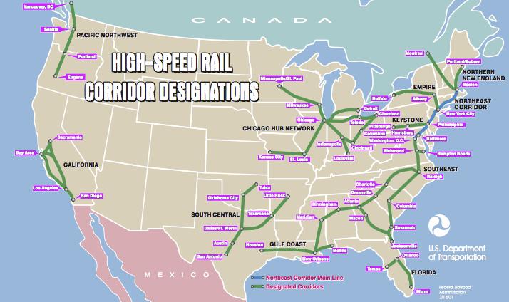 High-Spped Rail Corridor Designations