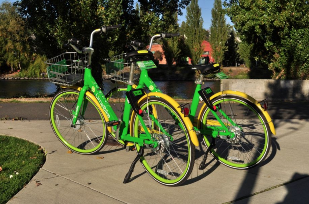 LimeBike in Seattle (Photo by Joe Mabel)