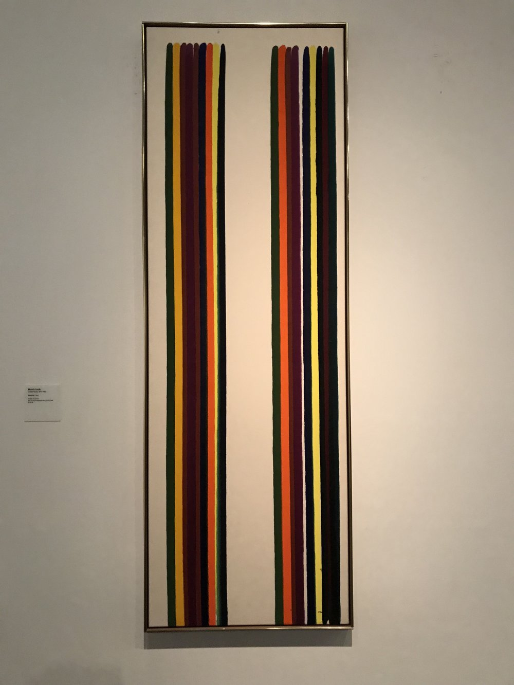 Gemini (1962 - acrylic on canvas) by Morris Louis (1912 -1962) from the United States
