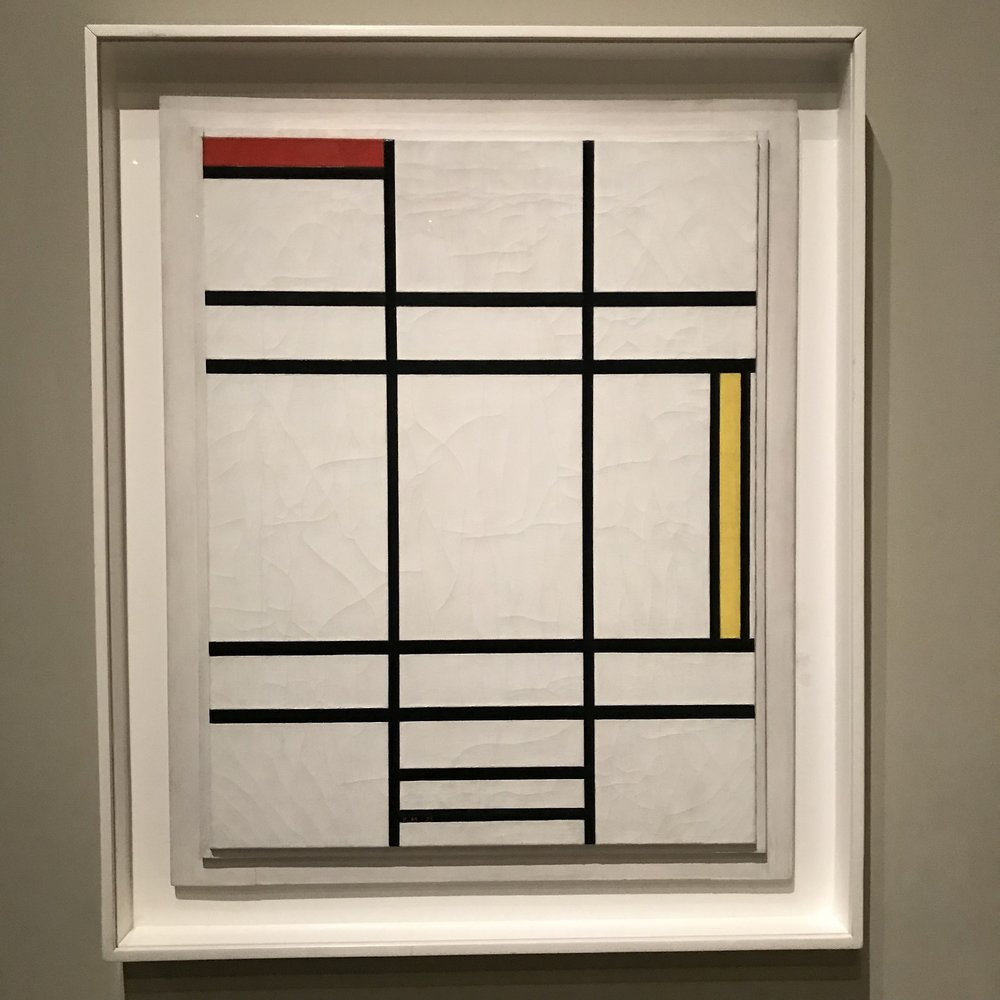 Composition in White, Red, and Yellow (1938) by Piet Mondrian ( 1872 - 1944) of France and the USA
