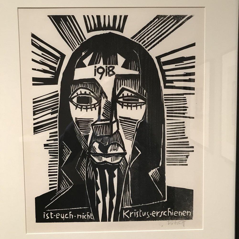 Christ (1918) by Karl Schmidt-Rottluff (1884-1976)