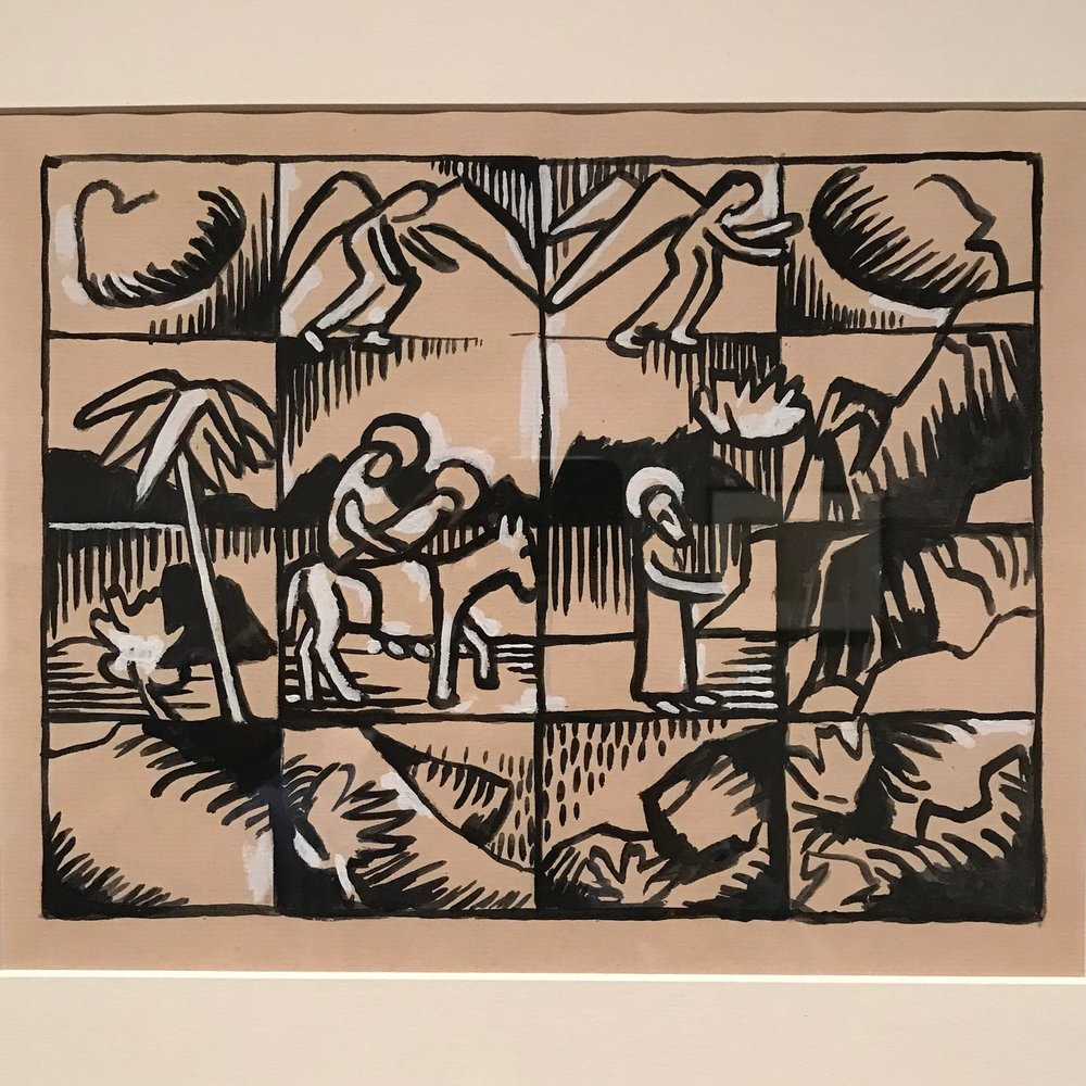 Christ and the Flight into Egypt (c. 1917) by Arthur Segal (1917)