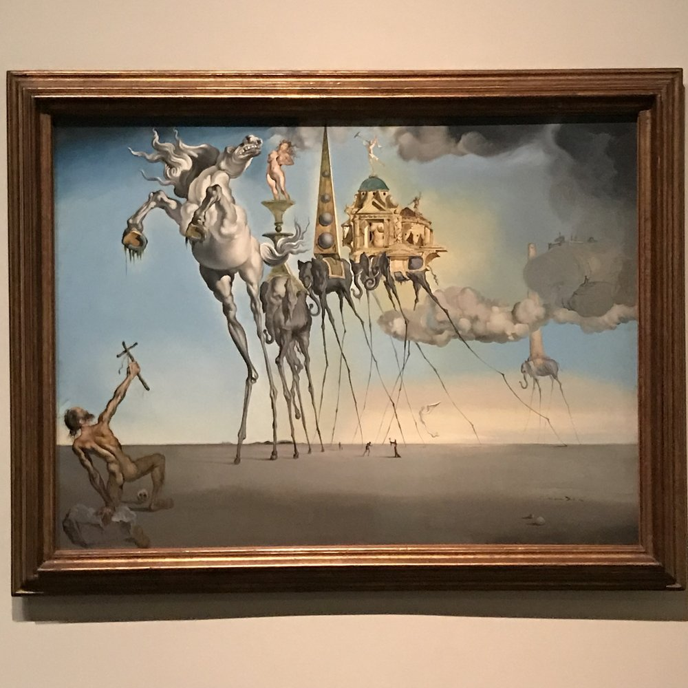 Temptation of St. Anthony (1946) by Salvador Dali (1904 - 1989) of Spain