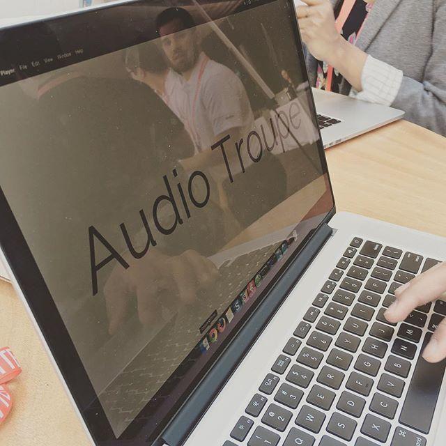 All set! Audiotroupe at #techweekla #premiumheadphones