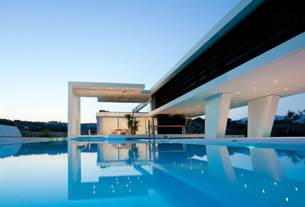 Modern Greek Homes futuristic home in athens, greece — the dapper haus